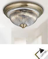Design Moderne LED Lampe Leuchte Ø28cm Glamour Deckenleuchte in messing Antik
