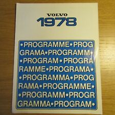 VOLVO 66 244 245 264 265 GL DL DLE GLE UK Market Range Brochure 1978