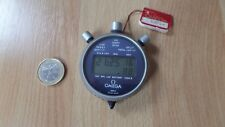 Omega Taschenuhr vintage 1980 olympic timer LCD 4321.2 Alugehäuse NOS unbenutzt