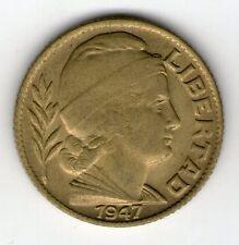 ARGENTINA COIN 1947 20 CENTAVOS ALUMINUM BRONZE KM#42 UNC