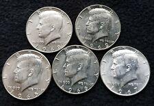 More details for 1965-1969 jfk half dollar 5x silver coins lot 2