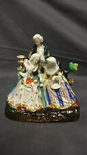 Antique Continental Porcelain Figure Group - Family With Child