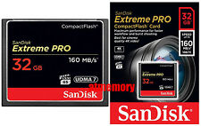 Sandisk Extreme Pro 32GB 32G Compact Flash Card CF 160MB/s 1067x UDMA7 in Sydney