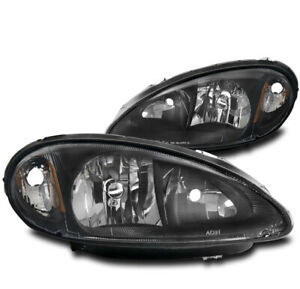 FOR 01-05 CHRYSLER PT CRUISER REPLACEMENT HEADLIGHTS LAMPS BLACK LEFT+RIGHT PAIR