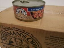Newman's Own Premium Beef & Vegetable Stew Cat Food 5.5oz  24 Cans Exp 7/6/20