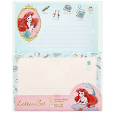 Japan Disney Letter Little Mermaid Ariel Envelope Letter Set Writing Note pad