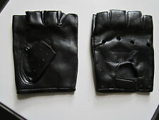 Soft comfortable PU Leather Fingerless Motorcycle Cycling Driving Gloves unisex