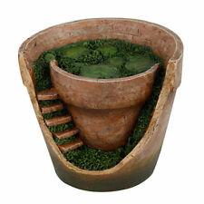 Fairy Garden Flower Pot Mini Faery Home Faerie Miniature House Patio Decor