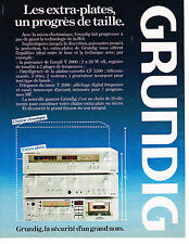 PUBLICITE ADVERTISING 104  1980  GRUNDIG   chaine hi-fi extra plate V 2000