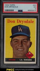 1958 Topps Don Drysdale #25 PSA 5 EX