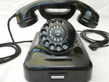 ALTES BAKELIT TELEFON   W48 + SEL + 60 Jahre + 1961 + Wählscheibe + restauriert