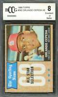 Orlando Cepeda Card 1968 Topps #362 St Louis Cardinals BGS BCCG 8