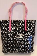 NWT Kate Spade Daycation bon shopper black & cream bows pink handles