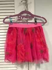 NWT GAP KIDS GIRLS SKIRT I WANT CANDY LINE SMALL 6-7 TULLE FLORAL PINK FLOWERS