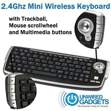 MINI WIRELESS KEYBOARD WITH TRACKBALL FOR HOME THEATER SMART TV OFFICE GAMING