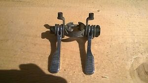 Downtube Shifters vintage retro road bike made in france Huret clamp on silver