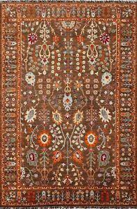 Vegetable Dye Geometric Ziegler Oriental Area Rug Wool Hand-knotted 5'x7' Carpet