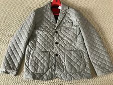 NWT Auth Isaia Gray Quilted Notch Lapel Cotton/Wool Blazer Jacket Sz 56 46 $2485
