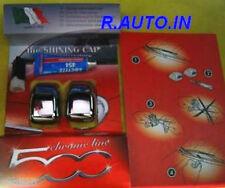 FIAT NUOVA 500 2007=->>CALOTTE CROMATE COPRI SPRUZZATORI TERGI COVER NOZZLES