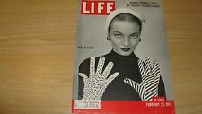 1952 LIFE MAGAZINE FEBRUARY 25 GLOVES IN FASHION HIGH GRADE LOWEST PRICE ON EBAY