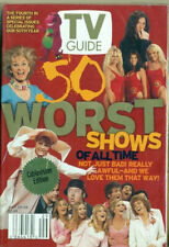 TV GUIDE - 2002 - 50 WORSE SHOWS - BAYWATCH + FLYING NUN + BRADY BUNCH + BARNEY