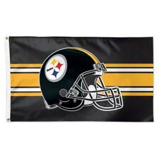 Pittsburgh Steelers Wincraft NFL Helmet 3x5 Deluxe Flag FREE SHIP!