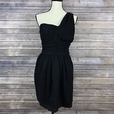 MM Couture by Miss Me Little Black Toga Style One Shoulder Dress Size S NWT