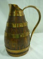 Geraud Lafitte 1955 France Wine Oak Wood Copper Pitcher 21B019