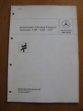 Mercedes Service Automatic Climate Conrol W 126 - W 123 -R 107 Workshop Manual