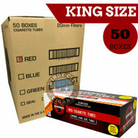 Shargio Full Flavor Cigarette Tube Tobacco King Size Red Wholesale 50 Boxes