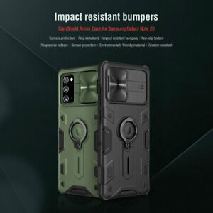 For NILLKIN Samsung Galaxy Note 20 Ultra Ring Slide Camera Cam-Shield Armor Case
