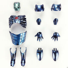 Blue Battle Damaged Armor fit hot toys 1/6  iron man mark III 3 mms314 diecast