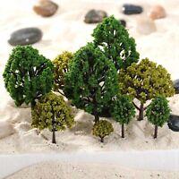 40pcs Mixed Scale Model Trees HO N O Scale Model Trees Garden Street Scenery