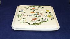 Gien Oiseaux de Paradis France Paradisvogel gr. Untersetzer Platte 24,5 x 24,5cm