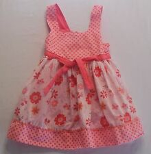 Pumpkin Patch Lined Pink Polka Dot and Floral Sun Dress, 4