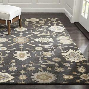New Brand 8 x 10 Gray Contemporary Wool Rug Handmade Parsian Style Rug & Carpets