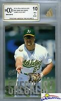 1997 Fleer Ultra Checklist #A5 Mark McGwire +GAME USED BAT BECKETT 10 MINT!