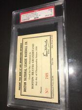 1935 Boston Braves Baseball Ticket Pass - Babe Ruth HR # 709 Opening Day - PSA