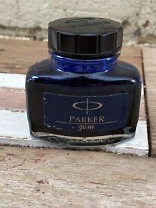 Genuine 'PARKER Refill Quink BLUE Fountain Pen Ink' -  57ml Bottle