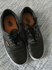 """Mens Vans """"Off the Wall"""" Brown Leather and Tweed Oxford Fashion Sneaker 10"""