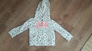 Cream and Pink Icecream Print Hoodie by GAP age 18-24 months