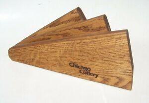 Chicago Cutlery Fan Shaped 6-Slot Knife Block Wood Walnut?