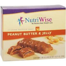 NUTRIWISE - Protein Diet Bars |Peanut Butter & Jelly | 7/Box,Gluten Free,Low Fat