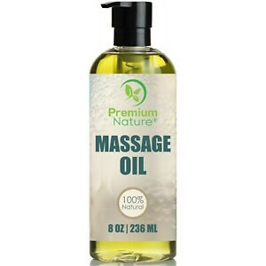 Massage Body Oil 8oz For Skin Essential Oils Aromatherapy Relaxing