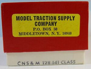 MTS - MODEL TRACTION SUPPLY    CNS&M Trolley  Class 128-141  HO Scale  ***NEW***
