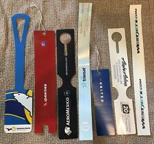 7 Different Unused Airline Baggage Luggage ID Tags