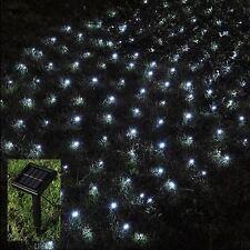 105 LED solaire blanc extérieur lumière net solaire Jardin Été Barbecue string