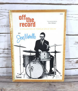 Vintage Off The Record by Joe Morello Collection Of Famous Drum Solos Book EUC
