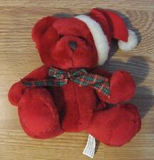 Avon Red Teddy Bear Plush Christmas 1999 Rare