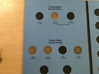 1858 - 1909 Indian head Cent Penny set in folder 29 Coins